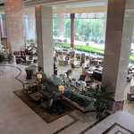 Looking down on the Lobby Lounge