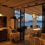 THEA Paros terrace by the sea