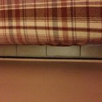 Space between bed and wall