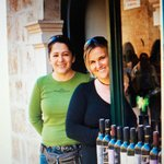 Suzana and Dolores from the wine shop