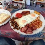 English breakfast. excellent value at 9TL. inc tea & toast. The best in olu deniz.