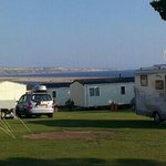 View from camper/caravan site towards Portland