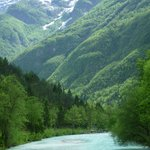 Soca River & views - just down from Pristava Lepena entrance