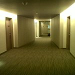 Corridor to rooms, carpeted and quiet :)
