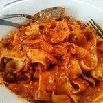 Pasta with meat ragu