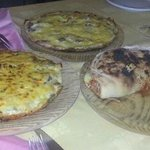 pizzas papareschi, otoñal y calzone.