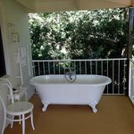 Outdoor bath. Lots of fun!