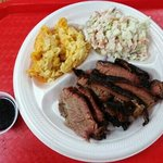 Brisket, mac n cheese, cole slaw