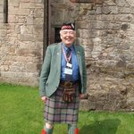 Scots volunteer coach tour guide