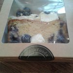 My Blueberry cake in cute cake sized box :)