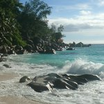 Anse Georgette, one beach of the Hotel