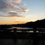 tramonto visto dall'interno del Ginepro