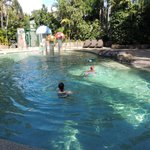 Kids enjoying pool area