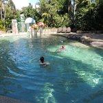 Kids enjoying pool area