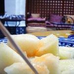 Breakfast: melon