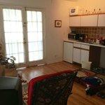 Living/kitchenette area