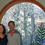 Inn owners Michelle and Ron in their beautiful dining room.