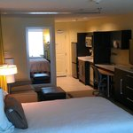 Spacious suite with sitting area and kitchenette