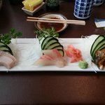 Yellowtail, Red Snapper, BBQ Eel
