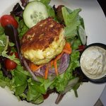 House salad with crabcake