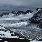 View from the top - massive glacier in the Sollipulli crater