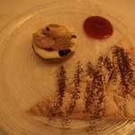 Apple puff pastry with hot cream