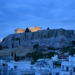 The Acropolis taken from the rooftop Restaurant
