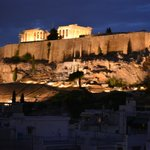 Acropolis from the rooftop Restaurant verandah