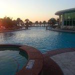Sunset poolside