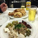 Maltese platter, bread with tuna mix