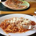 Tagliatelle & Pizza Funghi