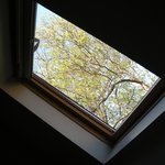 The skylight over my bed (I shot this while lying on my bed -- twin room)