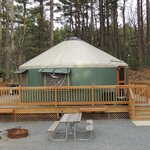 View of our Yurt