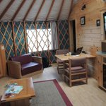 view inside our Yurt