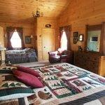Huge bedrooms with handmade furniture