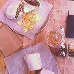 two panini and soda
