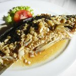 Delicious fish with lemongrass