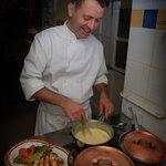 Laurent en cuisine