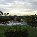 View of The Phoenician grounds from our room's balcony