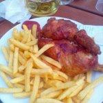 half chicken and fries