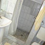 Bathroom with nice large shower