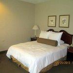 comfy bed in room
