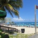 Beach seen from the reatuarant.