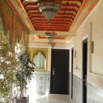 hallways with hand painted ceilings