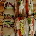 Sandwich platter up close