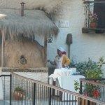 Horno de barro en la terraza