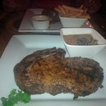 Nice big jucy Ribeye Steak with a amazing mushroom sauce for our 2nd visit in a week. Yum Yum