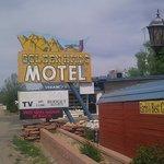Road sign for motel