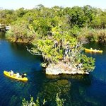 kayak in the biggest cenote of this area