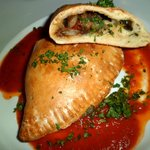 Vegetable & mozarella calzone
